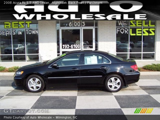 nighthawk black pearl 2008 acura rl 3 5 awd sedan parchment interior. Black Bedroom Furniture Sets. Home Design Ideas