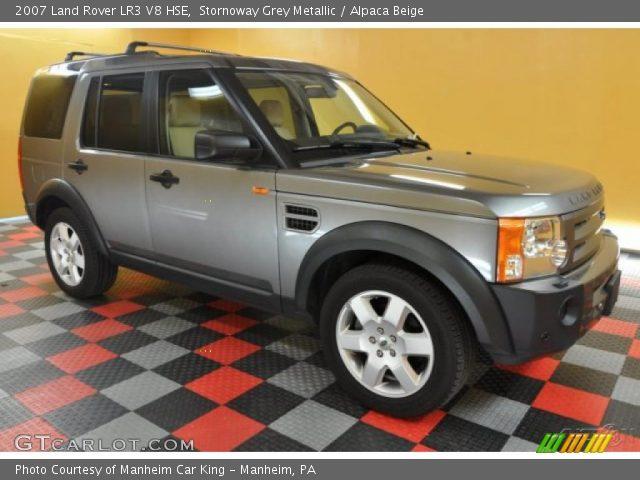stornoway grey metallic 2007 land rover lr3 v8 hse. Black Bedroom Furniture Sets. Home Design Ideas