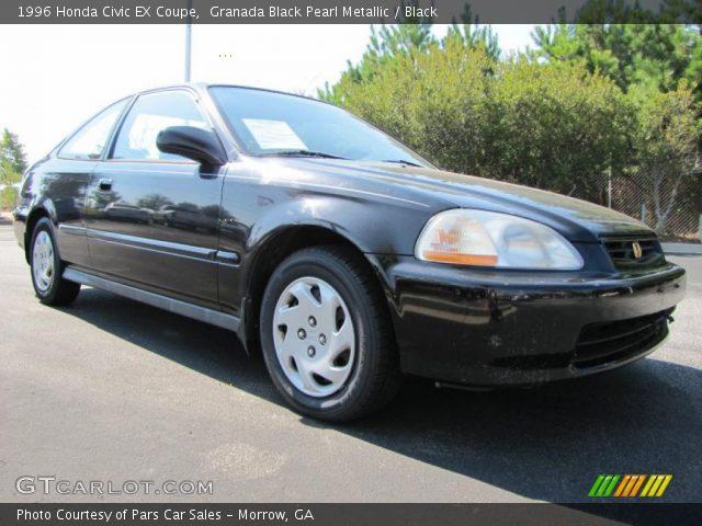 Granada Black Pearl Metallic 1996 Honda Civic Ex Coupe Black Interior