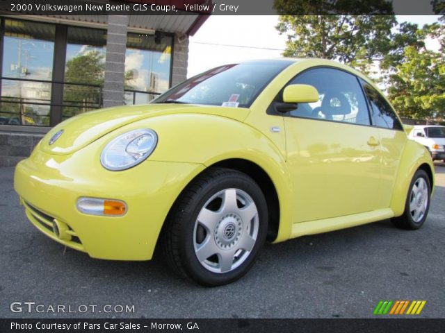 yellow 2000 volkswagen new beetle gls coupe grey interior vehicle archive. Black Bedroom Furniture Sets. Home Design Ideas