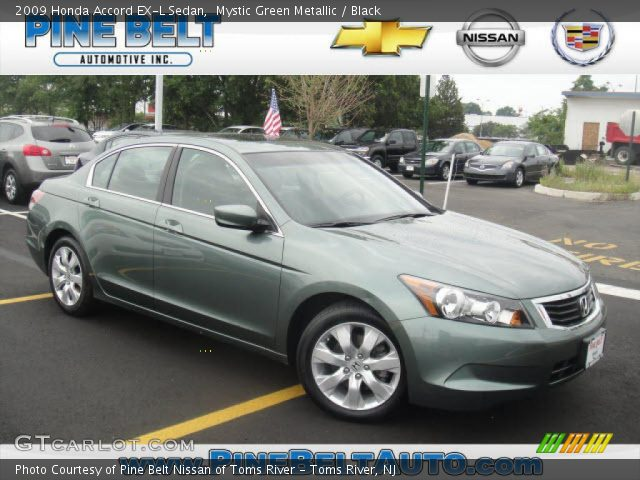 mystic green metallic 2009 honda accord ex l sedan. Black Bedroom Furniture Sets. Home Design Ideas