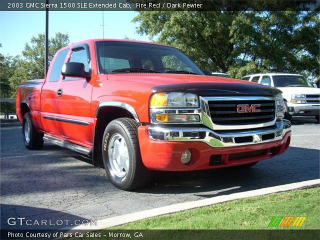 fire red 2003 gmc sierra 1500 sle extended cab dark pewter interior vehicle. Black Bedroom Furniture Sets. Home Design Ideas