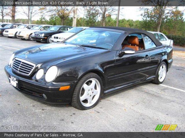 Black 2000 mercedes benz clk 430 cabriolet light brown for Mercedes benz 430 clk
