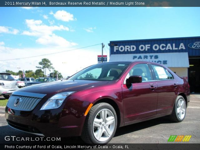 2011 Mercury Milan I4 in Bordeaux Reserve Red Metallic