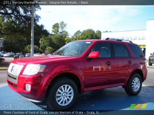 2011 Mercury Mariner Premier in Sangria Red Metallic
