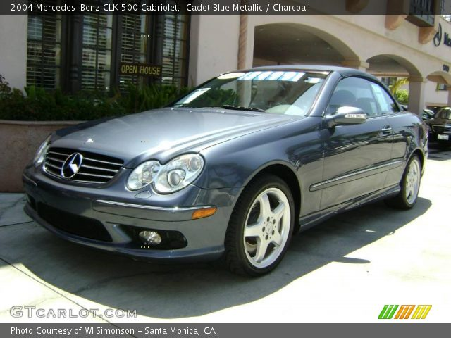 Cadet blue metallic 2004 mercedes benz clk 500 cabriolet for 2004 mercedes benz clk 500