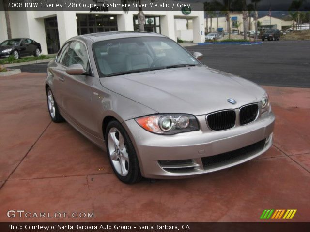 cashmere silver metallic 2008 bmw 1 series 128i coupe grey interior vehicle. Black Bedroom Furniture Sets. Home Design Ideas