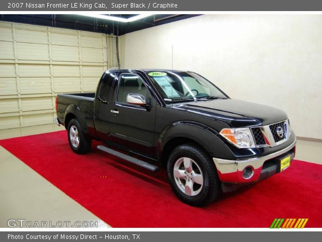 super black 2007 nissan frontier le king cab graphite interior vehicle. Black Bedroom Furniture Sets. Home Design Ideas