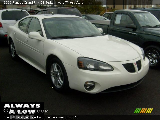 ivory white 2006 pontiac grand prix gt sedan sand. Black Bedroom Furniture Sets. Home Design Ideas