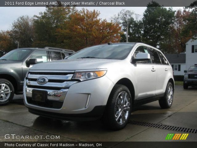 ingot silver metallic 2011 ford edge limited awd charcoal black interior. Black Bedroom Furniture Sets. Home Design Ideas