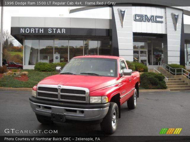 flame red 1996 dodge ram 1500 lt regular cab 4x4 gray interior vehicle. Black Bedroom Furniture Sets. Home Design Ideas