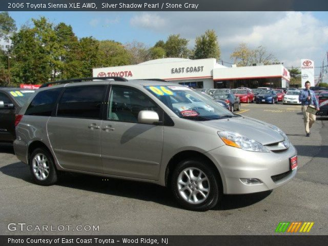 silver shadow pearl 2006 toyota sienna xle awd stone. Black Bedroom Furniture Sets. Home Design Ideas