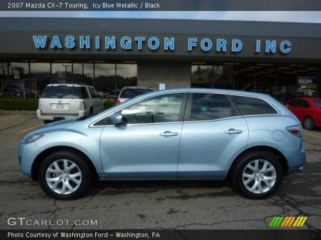 icy blue metallic 2007 mazda cx 7 touring black. Black Bedroom Furniture Sets. Home Design Ideas