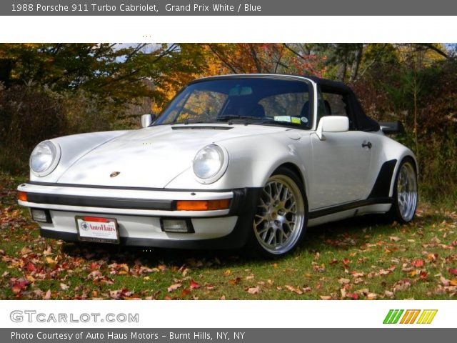 grand prix white 1988 porsche 911 turbo cabriolet blue interior vehicle. Black Bedroom Furniture Sets. Home Design Ideas