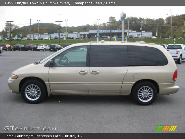 champagne pearl 1999 chrysler town country limited camel interior vehicle. Black Bedroom Furniture Sets. Home Design Ideas