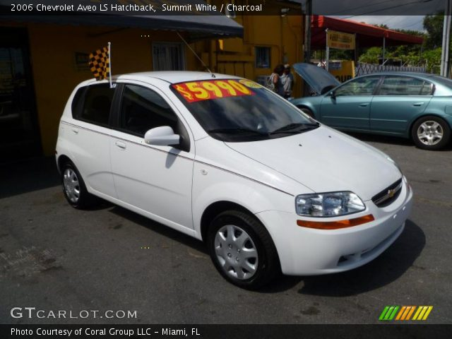 summit white 2006 chevrolet aveo ls hatchback charcoal. Black Bedroom Furniture Sets. Home Design Ideas