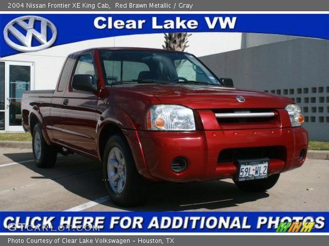 red brawn metallic 2004 nissan frontier xe king cab gray interior vehicle. Black Bedroom Furniture Sets. Home Design Ideas