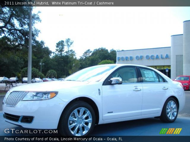 2011 Lincoln MKZ Hybrid in White Platinum Tri-Coat
