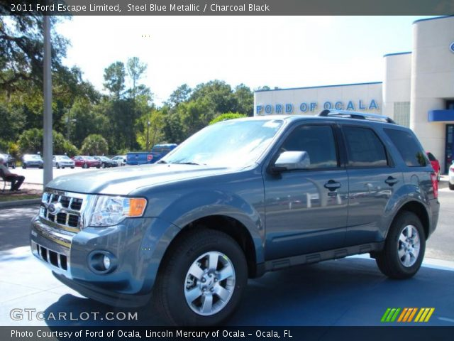 steel blue metallic 2011 ford escape limited charcoal. Black Bedroom Furniture Sets. Home Design Ideas