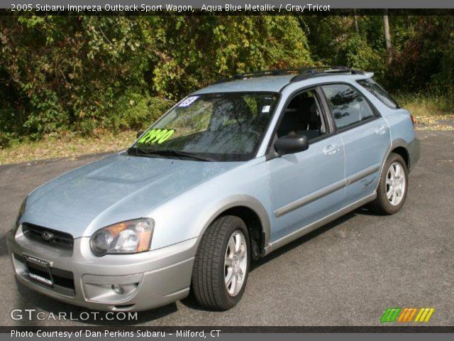 Aqua Blue Metallic 2005 Subaru Impreza Outback Sport Wagon Gray