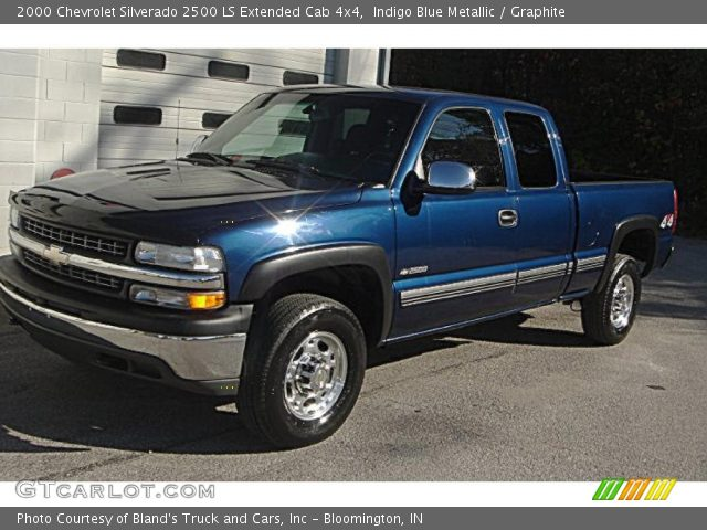 indigo blue metallic 2000 chevrolet silverado 2500 ls extended cab 4x4 graphite interior. Black Bedroom Furniture Sets. Home Design Ideas