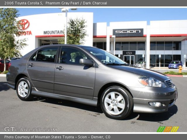 phantom gray pearl 2006 toyota corolla s dark charcoal interior vehicle. Black Bedroom Furniture Sets. Home Design Ideas