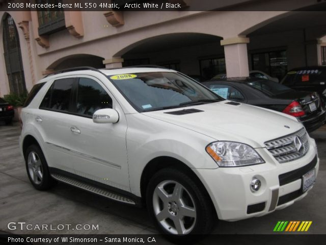 Arctic white 2008 mercedes benz ml 550 4matic black for 2008 mercedes benz ml550 4matic