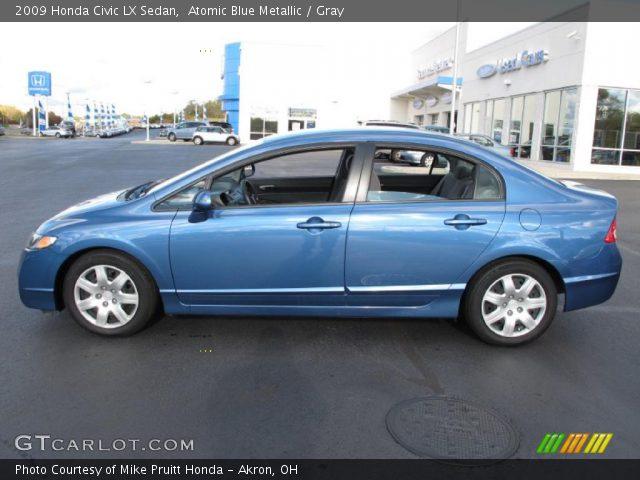 atomic blue metallic 2009 honda civic lx sedan gray interior vehicle. Black Bedroom Furniture Sets. Home Design Ideas