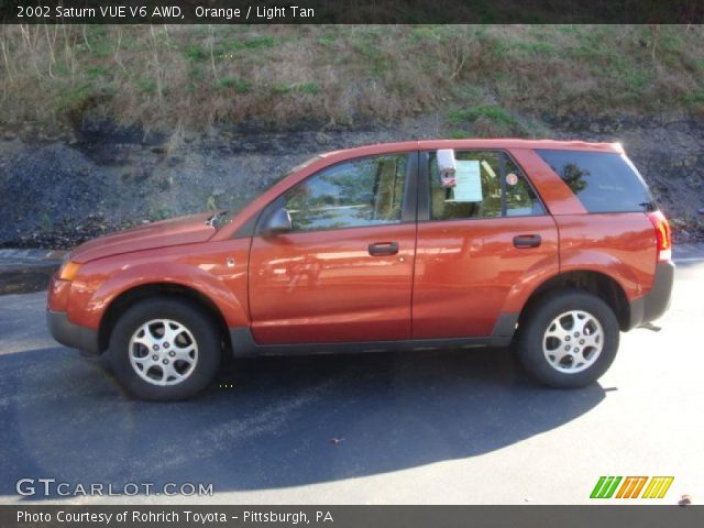 orange 2002 saturn vue v6 awd light tan interior. Black Bedroom Furniture Sets. Home Design Ideas