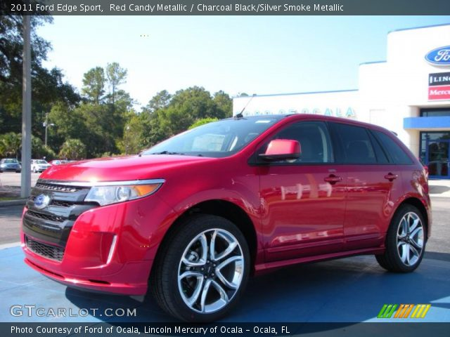 Red Candy Metallic 2011 Ford Edge Sport with Charcoal Black/Silver Smoke