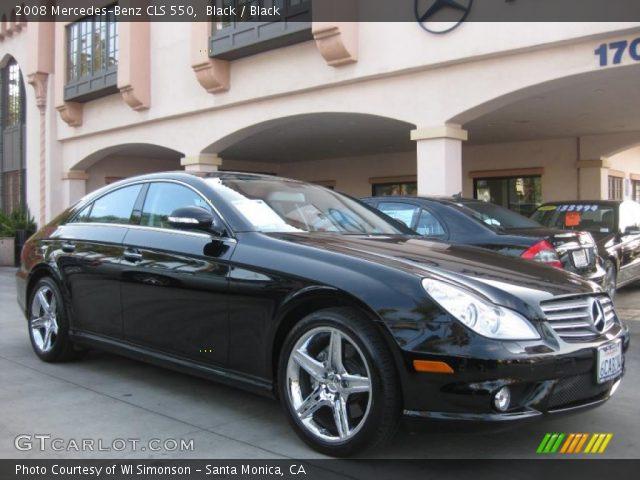 black 2008 mercedes benz cls 550 black interior vehicle archive 38474608. Black Bedroom Furniture Sets. Home Design Ideas