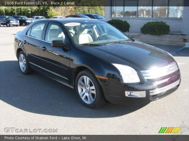 black 2006 ford fusion sel v6 camel interior vehicle archive 38549192. Black Bedroom Furniture Sets. Home Design Ideas
