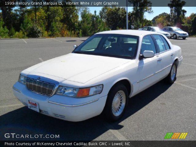 vibrant white 1999 mercury grand marquis ls light graphite interior vehicle. Black Bedroom Furniture Sets. Home Design Ideas