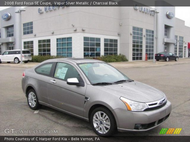 vapor silver metallic 2008 ford focus se coupe charcoal black interior. Black Bedroom Furniture Sets. Home Design Ideas