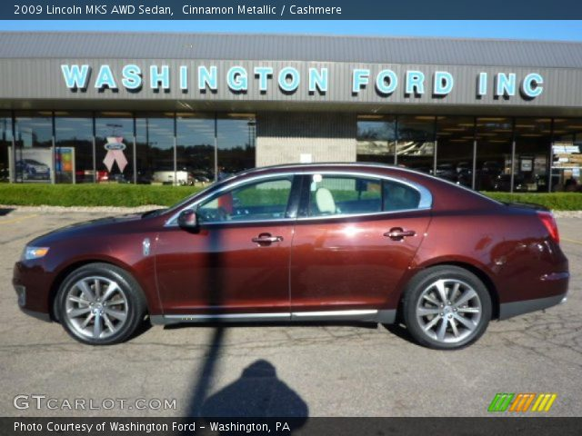 cinnamon metallic 2009 lincoln mks awd sedan cashmere. Black Bedroom Furniture Sets. Home Design Ideas
