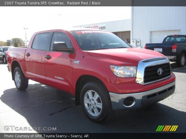 radiant red 2007 toyota tundra sr5 crewmax black interior vehicle archive. Black Bedroom Furniture Sets. Home Design Ideas