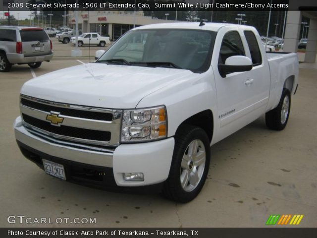 summit white 2008 chevrolet silverado 1500 lt extended cab light cashmere ebony accents. Black Bedroom Furniture Sets. Home Design Ideas