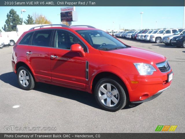chili pepper red 2010 saturn vue xr v6 awd tan interior vehicle archive. Black Bedroom Furniture Sets. Home Design Ideas