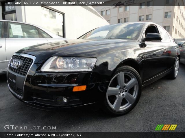 brilliant black 2008 audi a6 3 2 quattro sedan amaretto interior vehicle. Black Bedroom Furniture Sets. Home Design Ideas