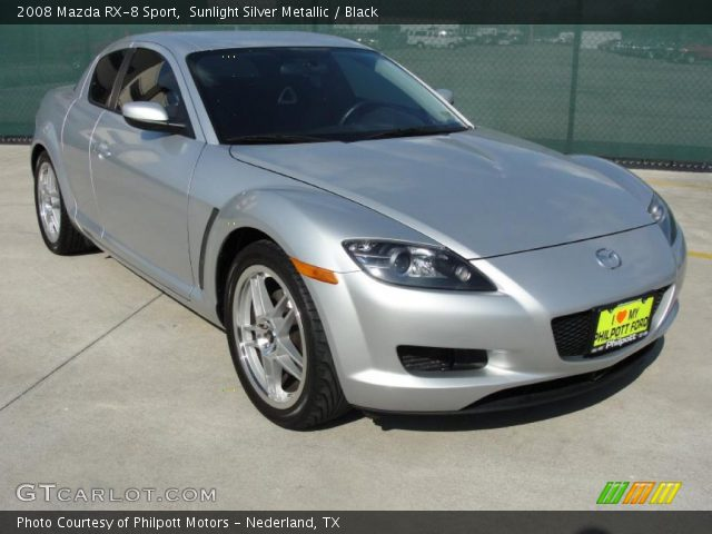 sunlight silver metallic 2008 mazda rx 8 sport black interior vehicle. Black Bedroom Furniture Sets. Home Design Ideas