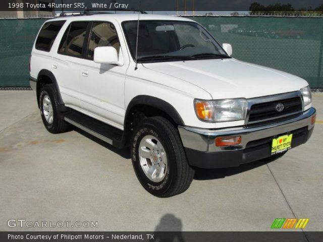White 1998 Toyota 4runner Sr5 Gray Interior Vehicle Archive 38690053