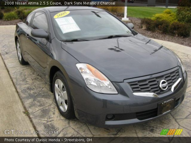 dark slate metallic 2008 nissan altima 2 5 s coupe charcoal interior. Black Bedroom Furniture Sets. Home Design Ideas