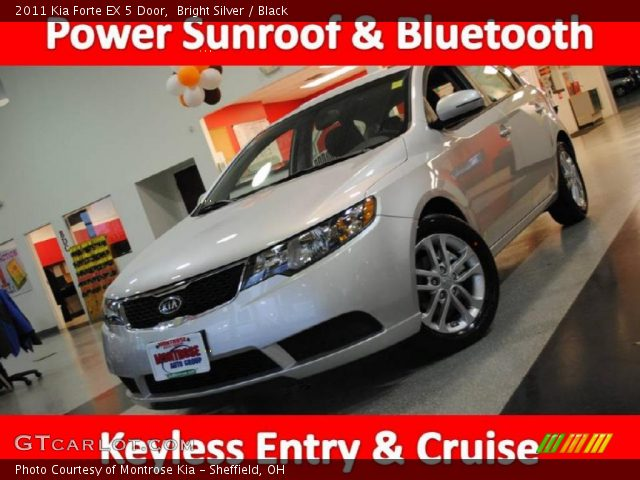 Kia Forte 2011 Black. Bright Silver 2011 Kia Forte EX 5 Door with Black interior 2011 Kia Forte EX
