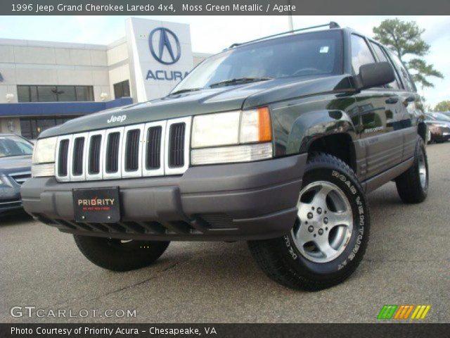Moss green metallic 1996 jeep grand cherokee laredo 4x4 - 1996 jeep grand cherokee interior ...