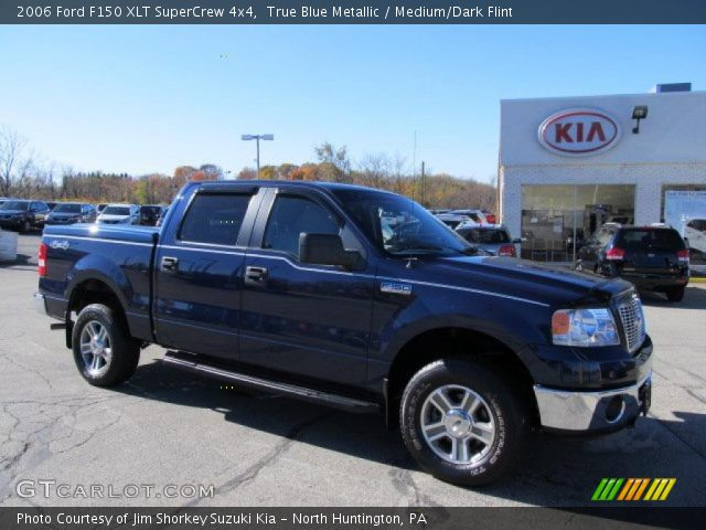 true blue metallic 2006 ford f150 xlt supercrew 4x4. Black Bedroom Furniture Sets. Home Design Ideas