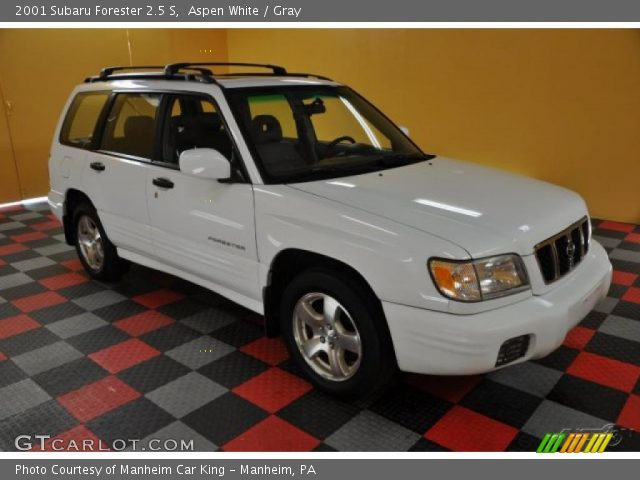aspen white 2001 subaru forester 2 5 s gray interior gtcarlot com vehicle archive 38795241 gtcarlot com