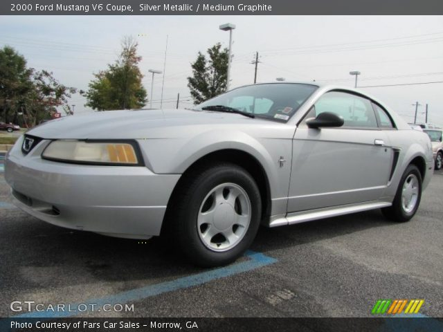silver metallic 2000 ford mustang v6 coupe medium. Black Bedroom Furniture Sets. Home Design Ideas