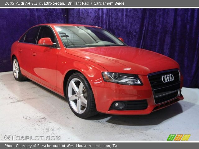brilliant red 2009 audi a4 3 2 quattro sedan cardamom. Black Bedroom Furniture Sets. Home Design Ideas