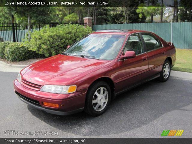 bordeaux red pearl 1994 honda accord ex sedan gray interior vehicle archive. Black Bedroom Furniture Sets. Home Design Ideas