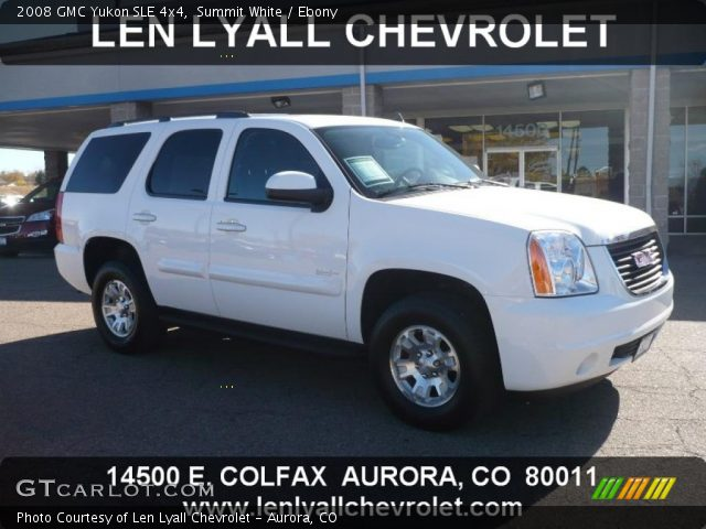 2008 GMC Yukon SLE 4x4 in Summit White